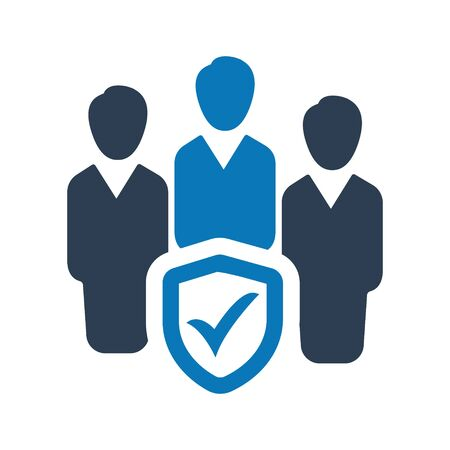 Business Group Insurance, Business Group Protection Icon Archivio Fotografico - 150228490