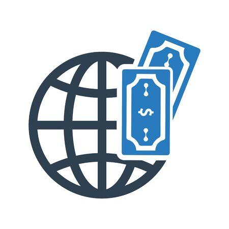 Global Economic Icon Archivio Fotografico - 150228516