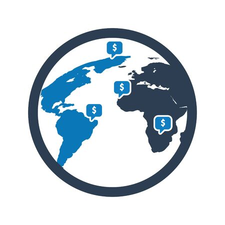 Global financial institution location icon Archivio Fotografico - 150228517