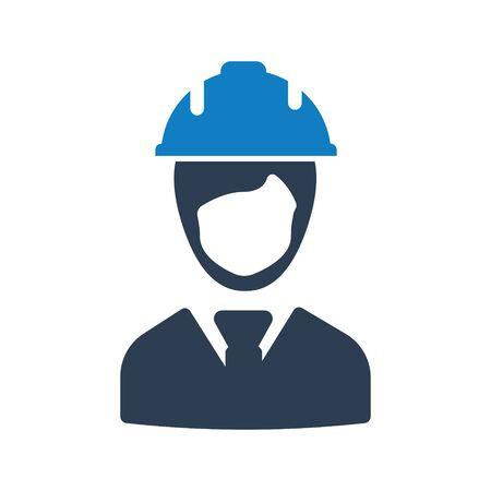 Construction worker icon Vettoriali