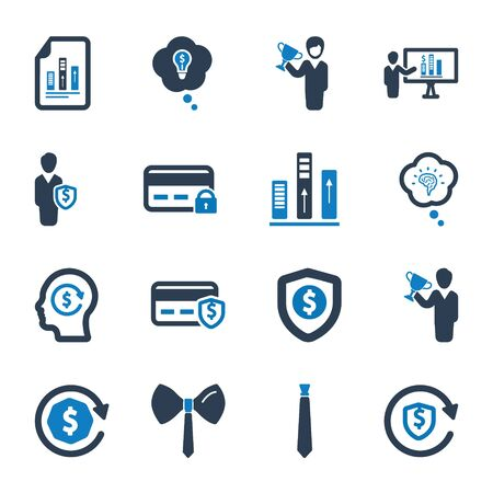 Business and management icons set 07 Archivio Fotografico - 150228553