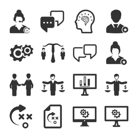 Business and management black icons set 07 Archivio Fotografico - 150228558