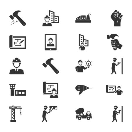 Construction Icons Set 04