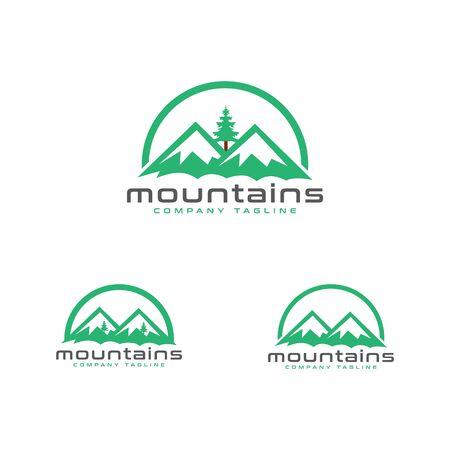 Mountains Logo Archivio Fotografico - 150228600
