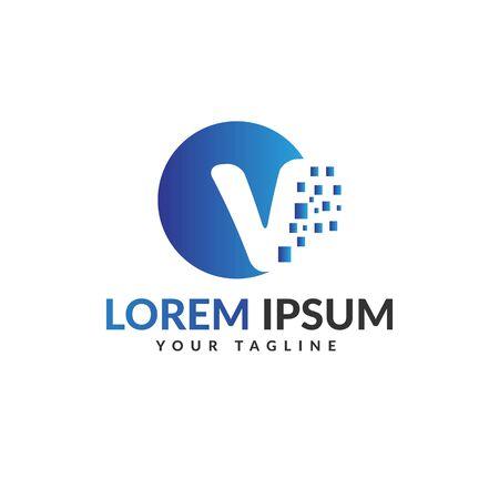 V letter logo Vettoriali