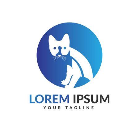 Cat logo design Vettoriali