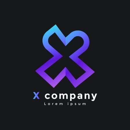 X letter logo. Modern logo design