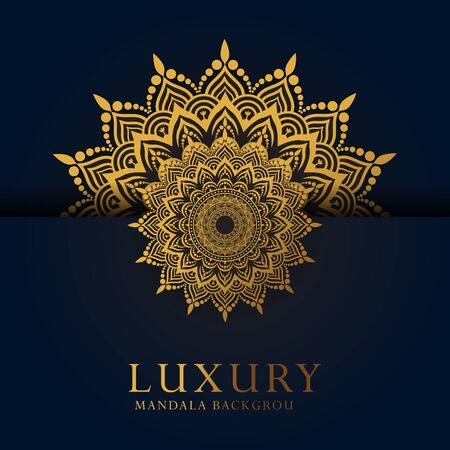 Luxury ornamental mandala design background in gold color Archivio Fotografico - 150228651