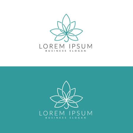 Lotus Flower Logo Design Vector Template Archivio Fotografico - 153909634