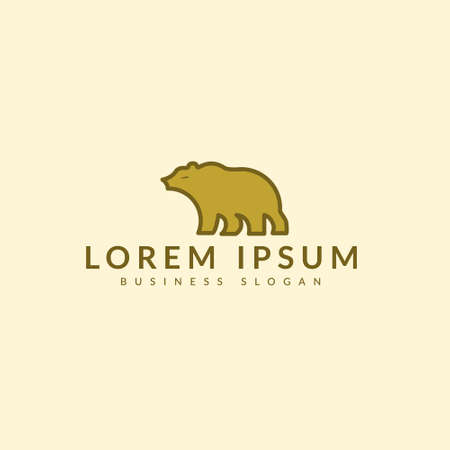 Bear logo icon designs, Polar bears logo Vettoriali