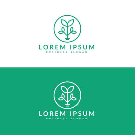 Tree logo, vector logo template Vettoriali