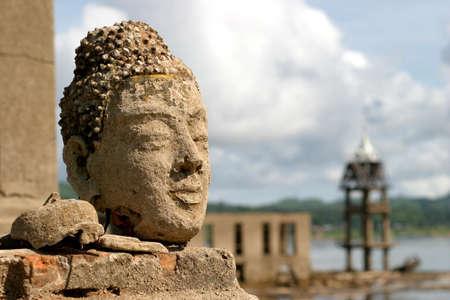 annals: Buddha image at old temple luang por udtama