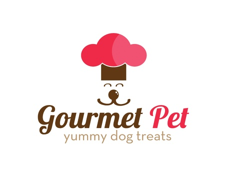 animals and pets: Gourmet Pet Treats Logo Illustration