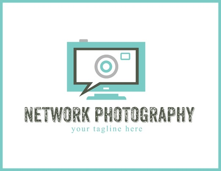 photography logo: Network Social Photography Logo