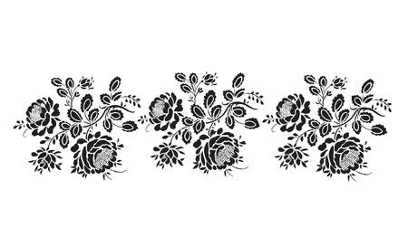 Black silhouette of rose Vector illustration Vector