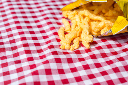 crunchy: Crunchy cheese snacks Stock Photo