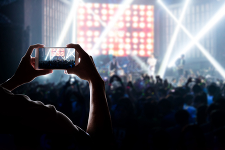 entertainment: engage your audience with the power of social network Stock Photo
