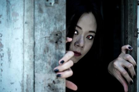 Ghost Girl Horror , Halloween image. Stock Photo