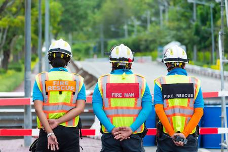 standby: teams rescue standby at car racing