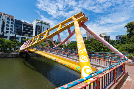 Robertson Bridge in Singapore, one of the place that experiences the most number of tourist.