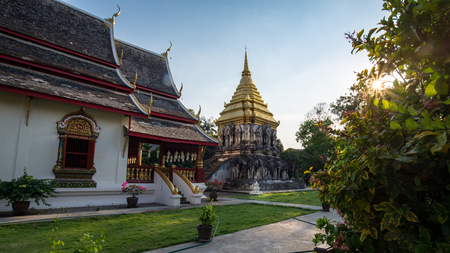 Wat Chiang Man, Ancient temple old in Chiang Mai, Thailand. 写真素材