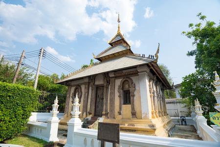 Wat Duang Dee buddhist temples in Chiang mai province, Thailand Standard-Bild