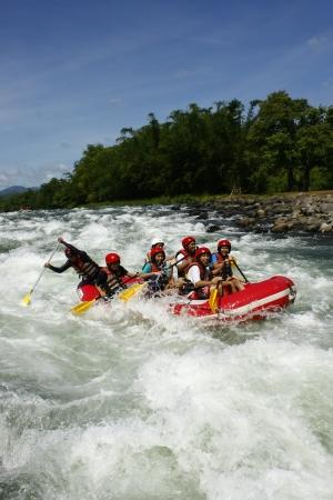 Cagayan De Oro, Philippines, June 5, 2009.  White water rafting in Cagayan De Oro, Mindanao, Philippines Stock Photo - 12262187