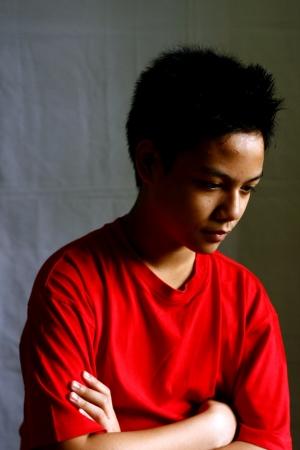 teener: portrait of an asian teen