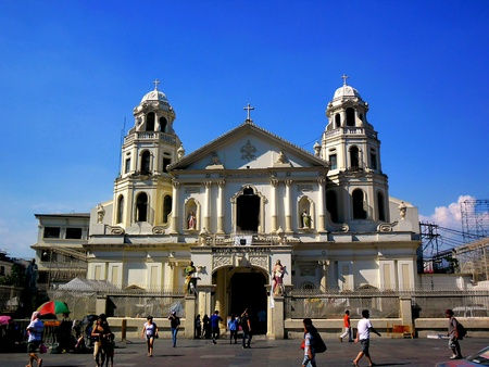 Quiapo church in quiapo, manila, philippines in asia