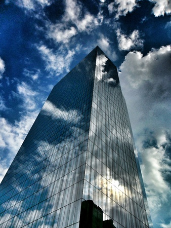 reflective: Building with reflective glass surface