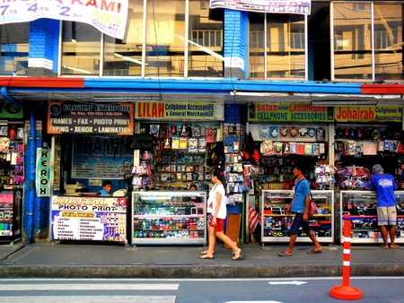 Sidewalk store in antipolo, rizal, philippines
