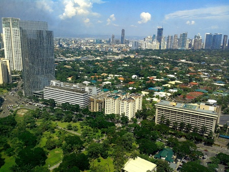 arial view: Arial view of makati city in philippines, asia