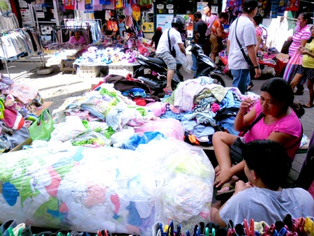 clothes: Diiferent Clothes sold in a market in quiapo, manila, philippines in asia