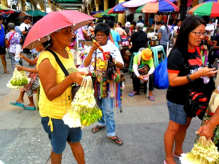 beside: Diiferent flowers sold beside quiapo church in quiapo, manila, philippines in asia