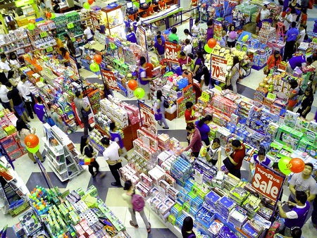 Pre christmas toy sale in a mall in manila philippines