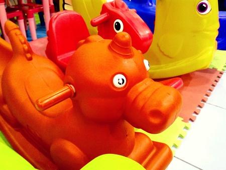 kiddie: Colorful kiddie rides