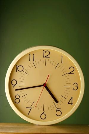 wall clock: Analog round wall clock Stock Photo