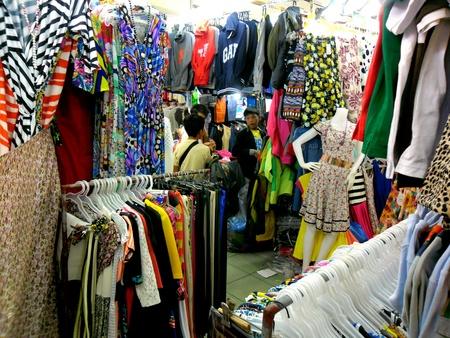 apparel: Bazaar Shops in greenhills, san juan city in philippines, asia Stock Photo