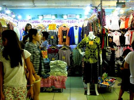 garment: Bazaar Shops in greenhills, san juan city in philippines, asia Stock Photo