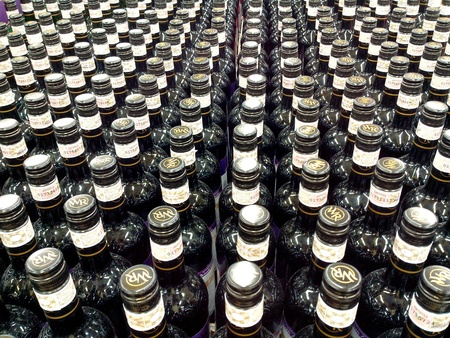 alcoholic drink: Bottles of alcoholic drink