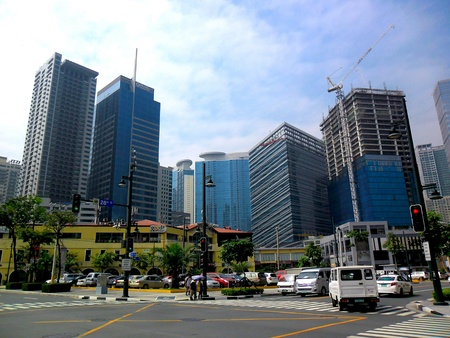 Bonifacio global city in taguig city, philippines Stok Fotoğraf