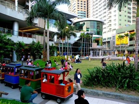 Train ride in Robinsons place magnolia residences mall in quezon city, philippines in asia