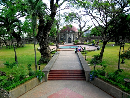 tourist spot: Paco Park and cemetery in manila city, philippines in asia