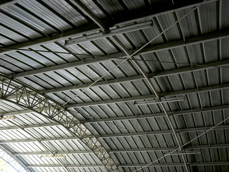 metal: Galvanized metal sheet roof