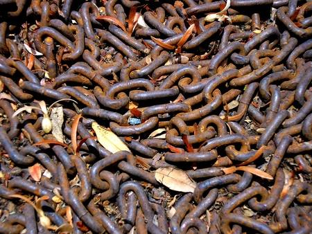 rusty chain: Rusty chain Stock Photo