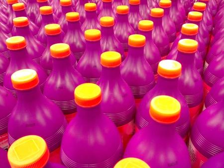 litre: colorful plastic bottles