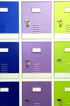 lockers: colorful steel lockers