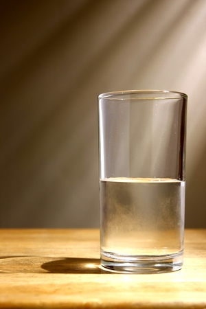 rehydration: Glass of cold water
