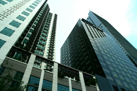 high rise buildings: High rise buildings in bonifacio global city in taguig city, philippines in asia