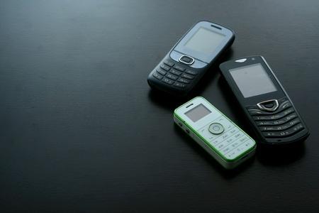 telecommunicate: Classic basic cellphone Stock Photo